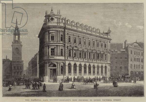The National Safe Deposit Company's New Premises in Queen Victoria Street (engraving)