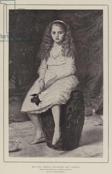 Miss Nina Lehmann, afterwards Lady Campbell (engraving)