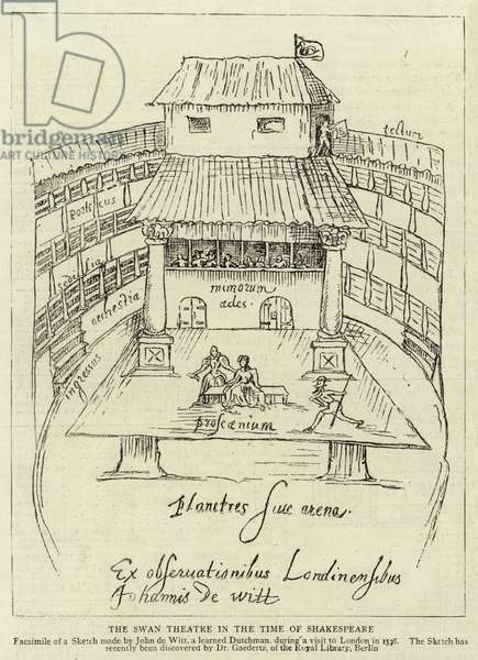 The Swan Theatre in the Time of Shakespeare (engraving)