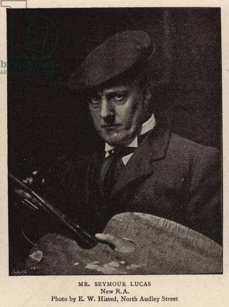 Mr Seymour Lucas (b/w photo)