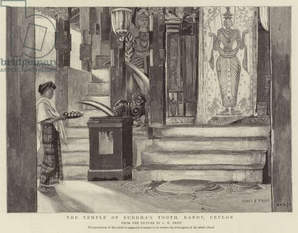 The Temple of Buddha's Tooth, Kandy, Ceylon (engraving)