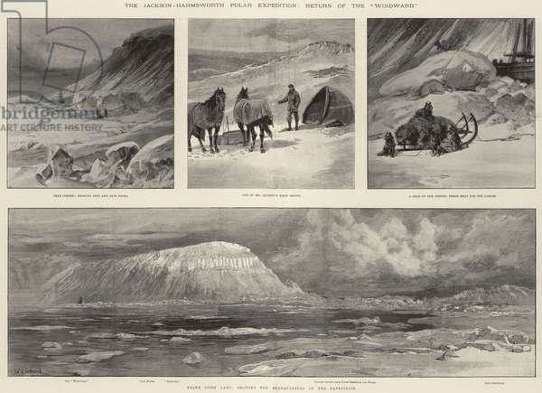 "The Jackson-Harmsworth Polar Expedition, Return of the ""Windward"" (engraving)"