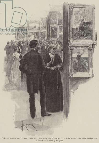 Greville Fane, by Henry James (engraving)
