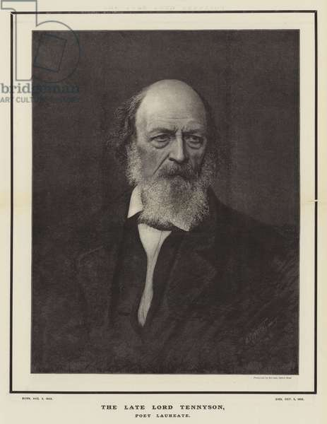 The late Lord Tennyson, Poet Laureate (engraving)