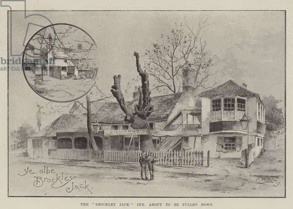 "The ""Brockley Jack"" Inn, about to be pulled down (litho)"