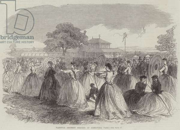National Archery Meeting at Alexandra Park (engraving)
