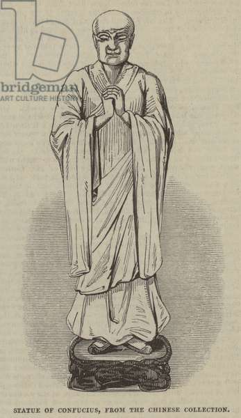 Statue of Confucius, from the Chinese Collection (engraving)