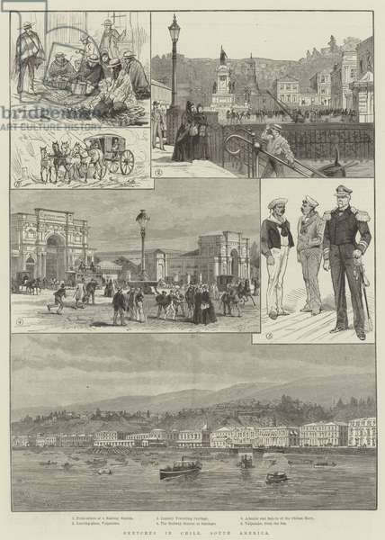 Sketches in Chile, South America (engraving)