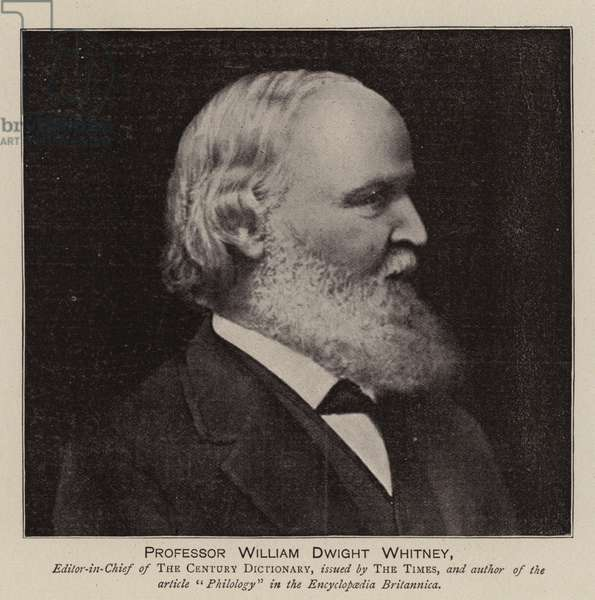 Professor William Dwight Whitney (engraving)