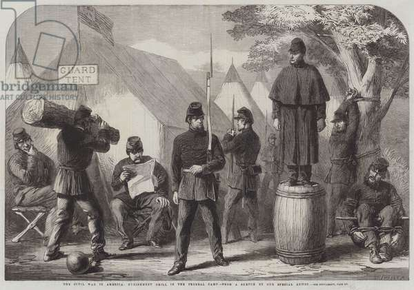 The Civil War in America, Punishment Drill in the Federal Camp (engraving)