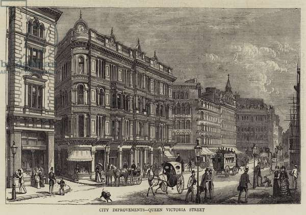 City Improvements, Queen Victoria Street (engraving)