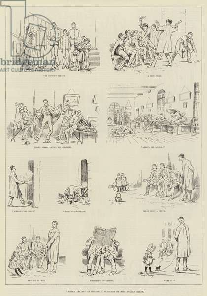 """""""Tommy Atkins"""" in Hospital (engraving)"""
