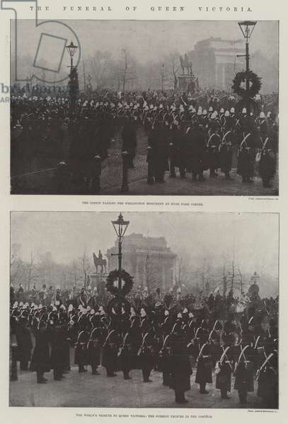 The Funeral of Queen Victoria (b/w photo)