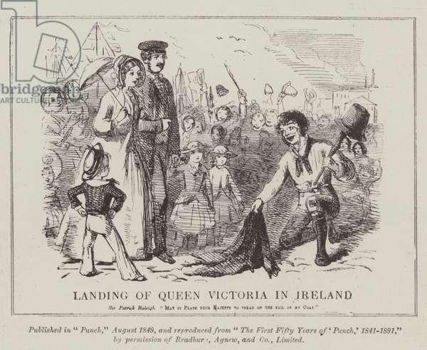Landing of Queen Victoria in Ireland (engraving)