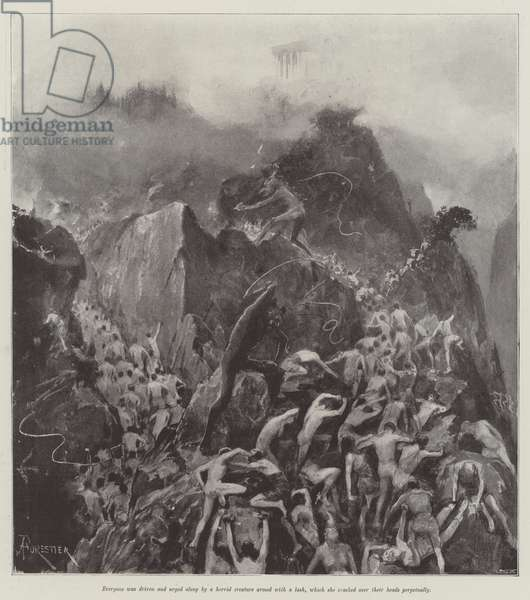 The Short Way, by Walter Besant (litho)