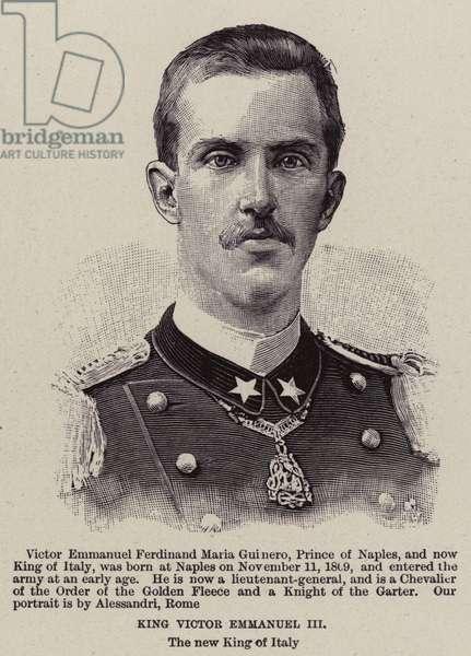 King Victor Emmanuel III (engraving)