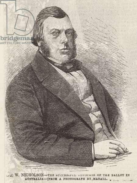 Mr W Nicholson (engraving)
