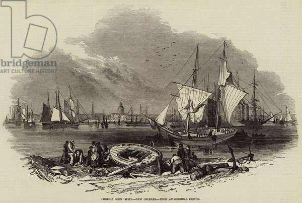 Foreign Corn Ports, New Orleans (engraving)