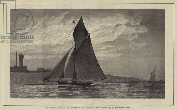 The Prince of Wales Yacht Club Channel Match, the Dudu and Cygnet off St Lawrence-on-Sea (engraving)