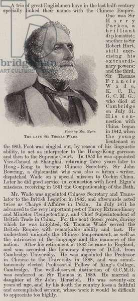 The Late Sir Thomas Wade (engraving)