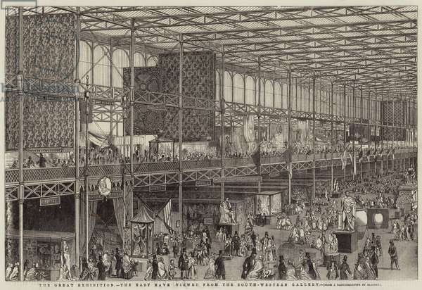 The Great Exhibition, the East Nave viewed from the South-Western Gallery (engraving)