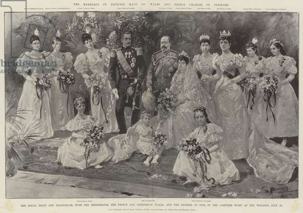 The Marriage of Princess Maud of Wales and Prince Charles of Denmark (litho)
