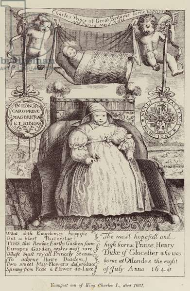 Youngest son of King Charles I, died 1661 (engraving)