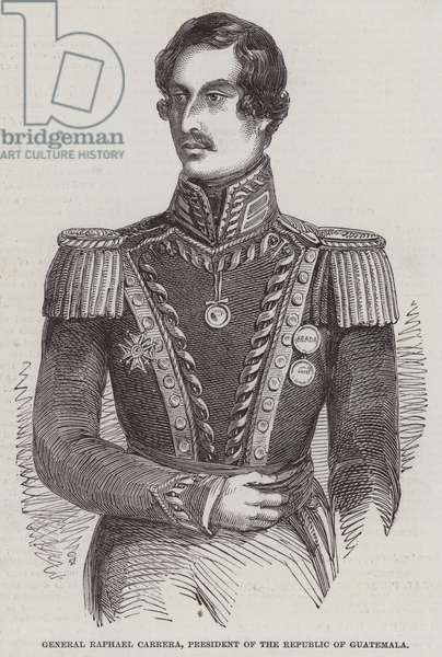 General Raphael Carrera, President of the Republic of Guatemala (engraving)
