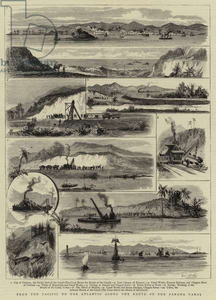 From the Pacific to the Atlantic along the Route of the Panama Canal (engraving)