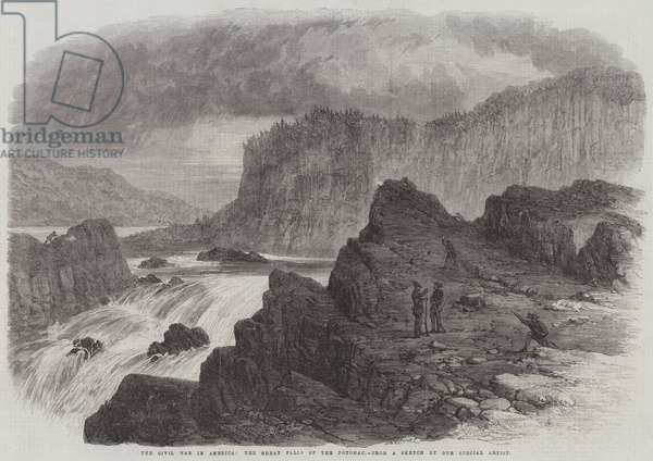 The Civil War in America, the Great Falls of the Potomac (engraving)