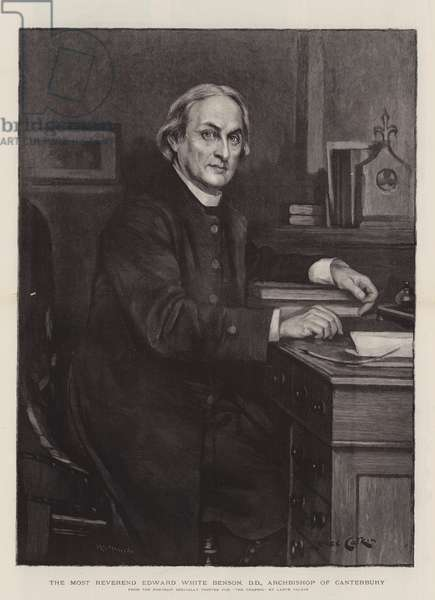 The Most Reverend Edward White Benson, DD, Archbishop of Canterbury (engraving)