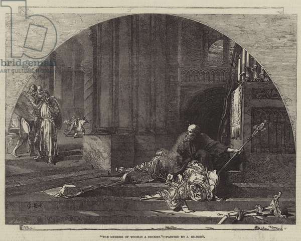 The Murder of Thomas A Becket (engraving)