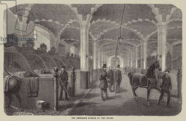 The Emperor's Stables at the Louvre (engraving)