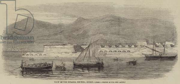 View of the Citadel Messina, Sicily (engraving)