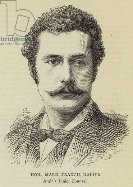 Honourable Mark Francis Napier (engraving)