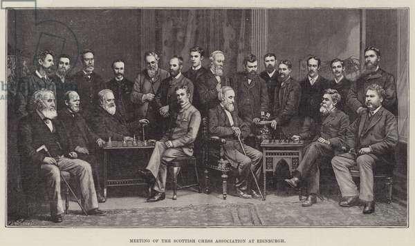 Meeting of the Scottish Chess Association at Edinburgh (engraving)