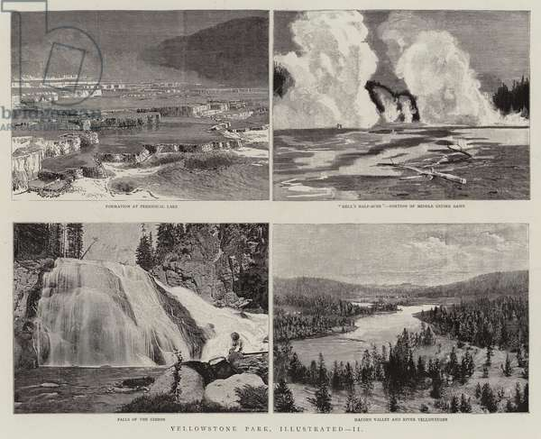 Yellowstone Park, Illustrated, II (engraving)