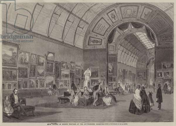 The Gallery of Modern Paintings at the Art-Treasures Exhibition (engraving)
