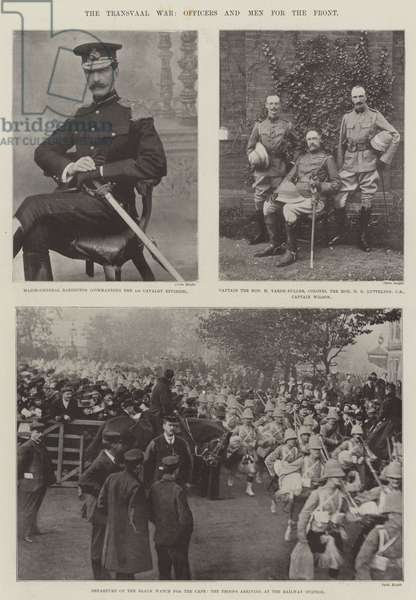 The Transvaal War, Officers and Men for the Front (b/w photo)