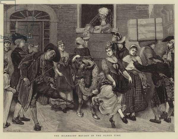 The Milkmaids' May-Day in the Olden Time (engraving)