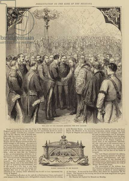 Presentation to the King of the Belgians (engraving)
