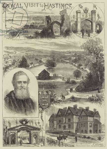 Royal Visit to Hastings (engraving)