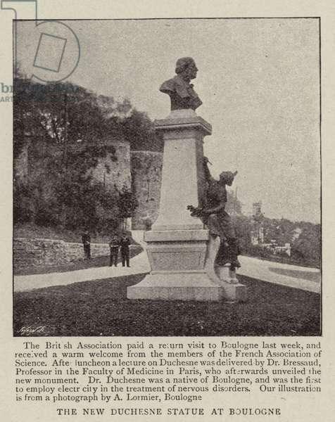 The New Duchesne Statue at Boulogne (b/w photo)