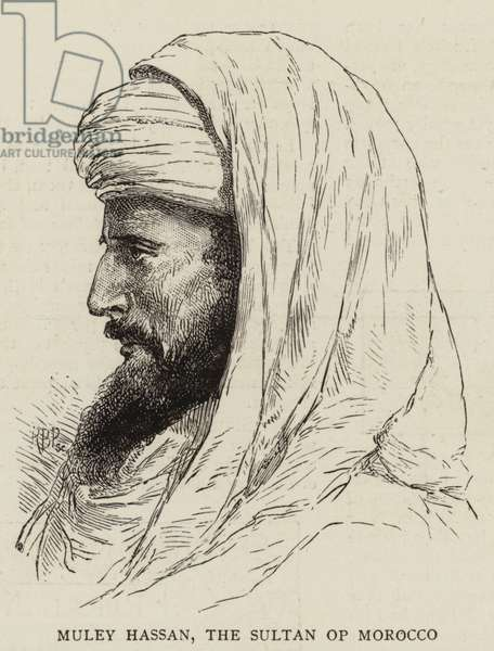 Muley Hassan, the Sultan of Morocco (engraving)