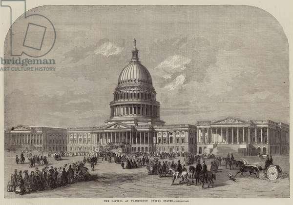 The Capitol at Washington, United States (engraving)