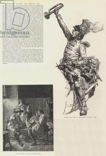 "Meissonier in the ""Art Annual,"" 1887 (engraving)"