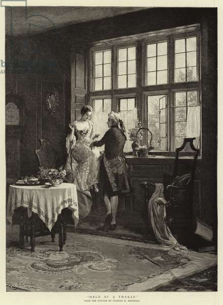 Held by a Thread (engraving)