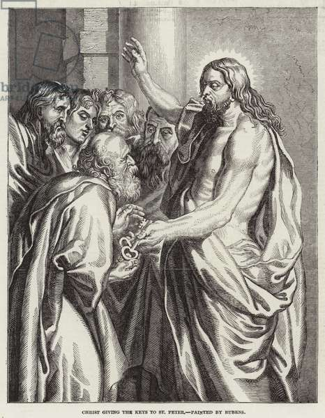 Christ giving the Keys to St Peter (engraving)