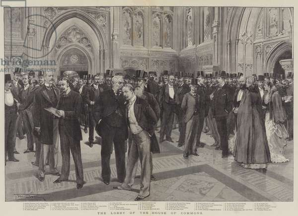 The Lobby of the House of Commons (engraving)