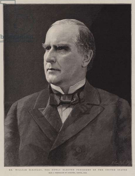Mr William McKinley, the Newly elected President of the United States (engraving)